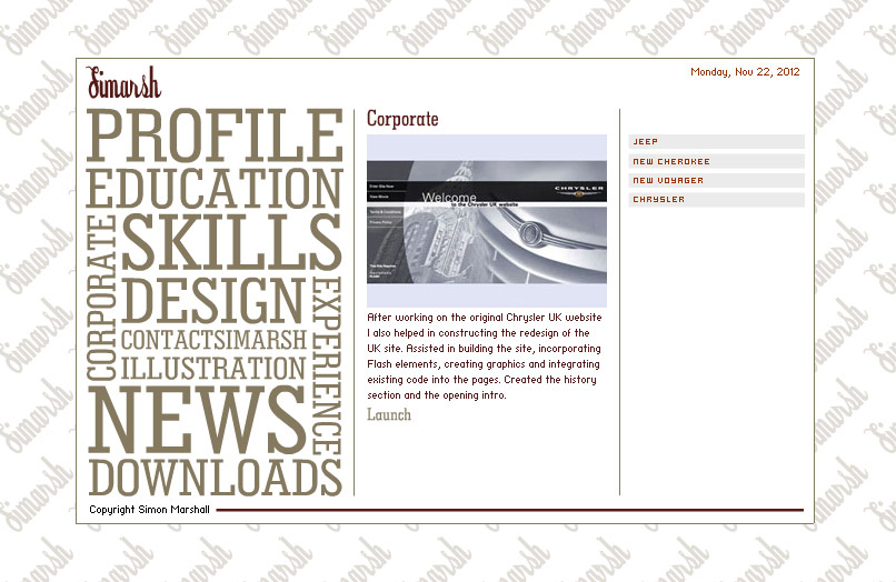 Web Design Portfolio 2003 Corporate