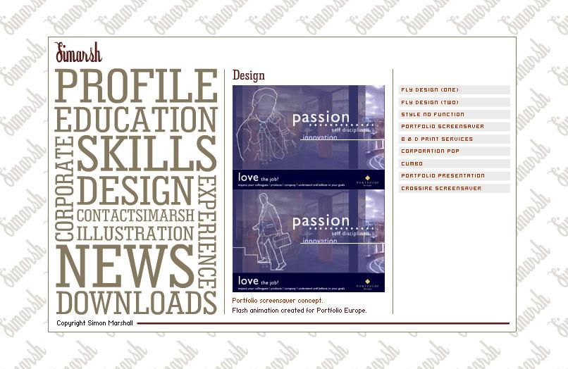 Web Design Portfolio 2003