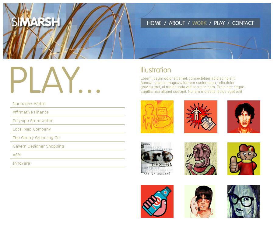 Web Design Portfolio 2006