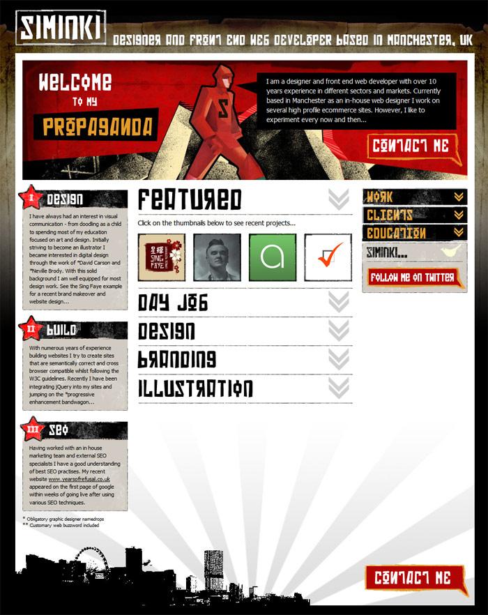Web Design Portfolio 2009
