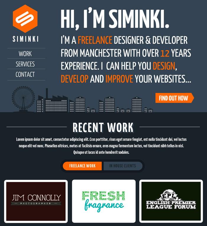 Web design portfolio 2012