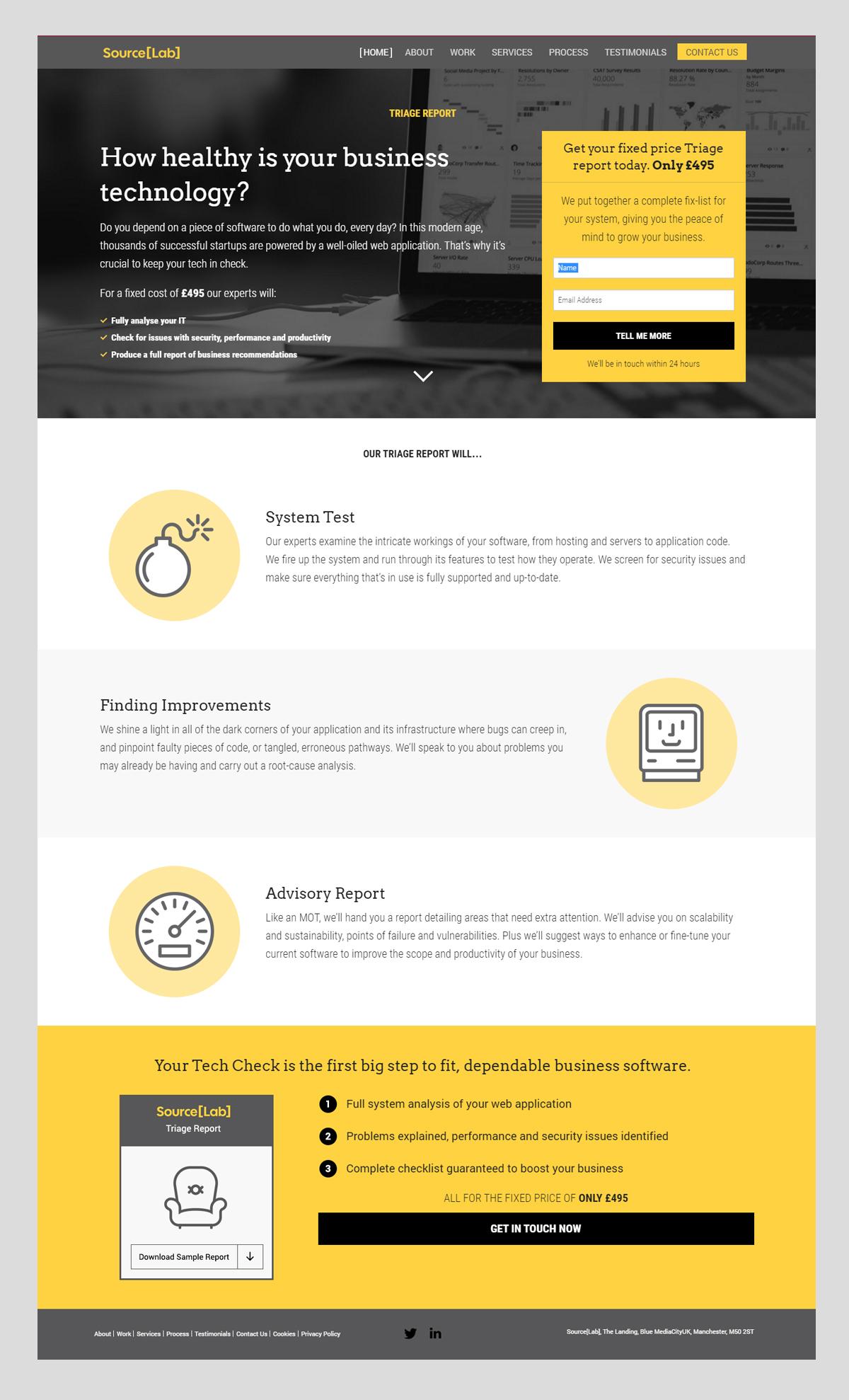 SL Landing Page